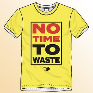 T-Spoon – T-shirt, yellow, No time to waste