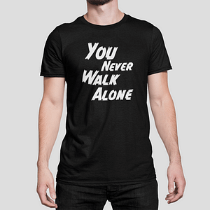 ANTI-VIRUS – T-shirt black, You never walk alone