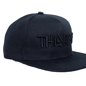 The Viper – cap logo black on black 3D embroidered (Snap back)
