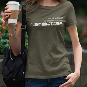 CINEMATIQUE – T-shirt female, logo in white, available in different colors