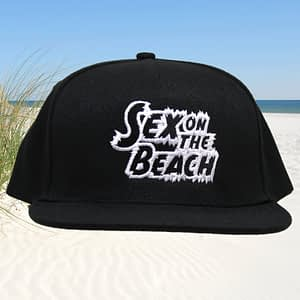 T-Spoon – Snapback CAP – Sex on the Beach logo – black-white
