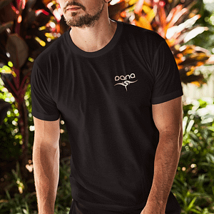 DANA – T-shirt with logo, rosegold print
