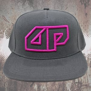 Deepack – Snapback CAP – 3D embroidered Deepack logo – magenta on grey