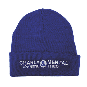 Charly Lownoise & Mental Theo – Beanie Logo (white embroidered)