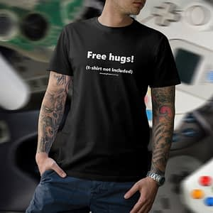 APG – T-shirt black, Free hugs!