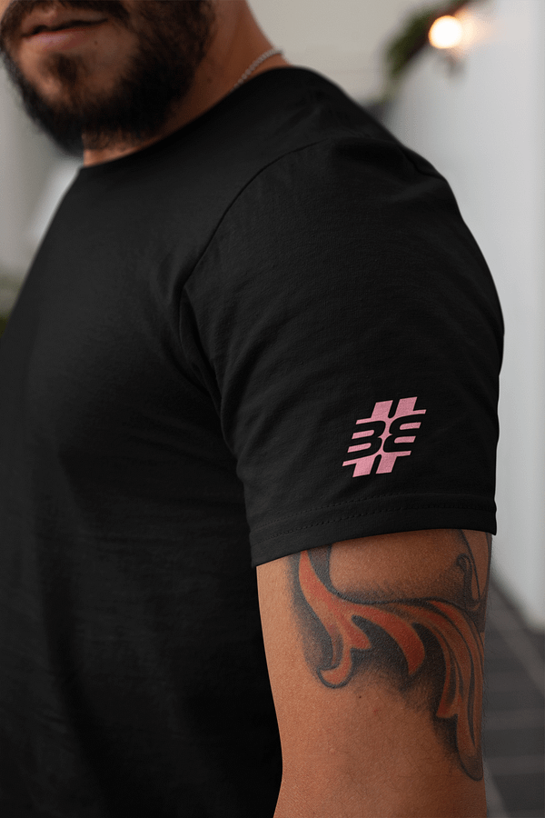 BITTE EIN BEAT t-shirt black SLEEVE medium pink