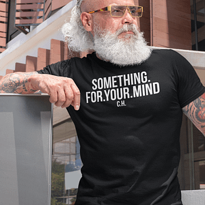REMEMBER – T-shirt SOMETHING FOR YOUR MIND, white print