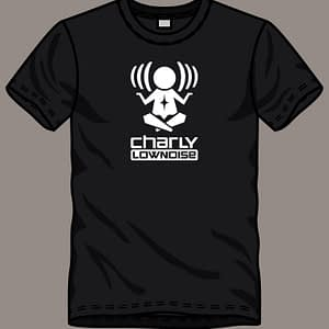 CHARLY LOWNOISE – T-shirt with logo, white print