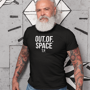 REMEMBER – T-shirt OUT OF SPACE, white print