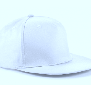 DJ Norman – Snapback CAP white – logo headphone embroidered in black
