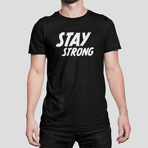 ANTI-VIRUS – T-shirt black, Stay Strong