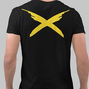 RAYVOLT – T-shirt with logo, yellow print