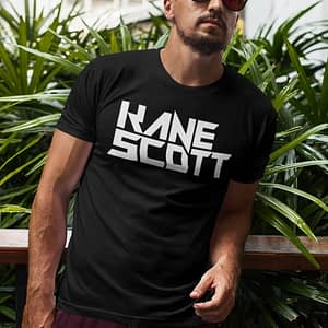 KANE SCOTT – T-shirt with text logo, white print
