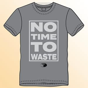 T-Spoon – T-shirt, grey, No time to waste