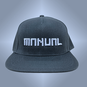Manual Music – CAP snapback – White on grey 3D embroidered