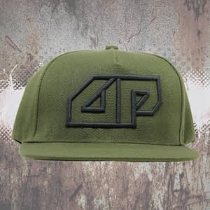 Deepack – Snapback CAP – 3D embroidered Deepack logo – green on green