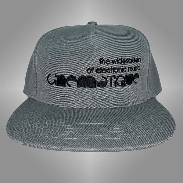 CINEMATIQUE CAP GREY BLACK LOGO FRONT