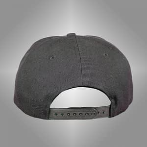 CINEMATIQUE – CAP snapback – Black on grey embroidered