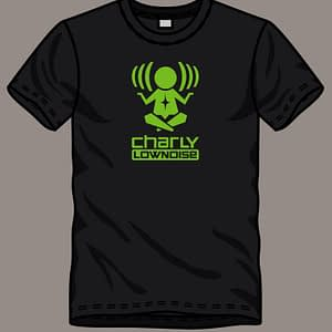 CHARLY LOWNOISE – T-shirt with logo, green print