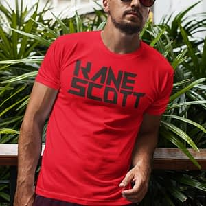 KANE SCOTT – T-shirt with text logo, black print