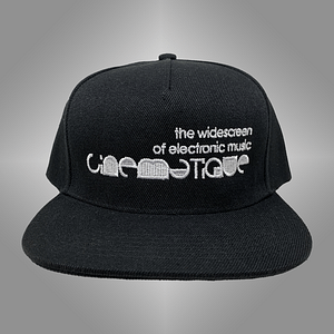 CINEMATIQUE – CAP snapback – White on black embroidered