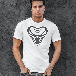 The Viper – Long and Lean Tee with logo – Unisex – WHITE