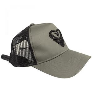 The Viper – CAP 2 color – Black on armygreen 3D embroidered