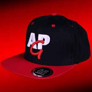 APG – snapback cap black/red – 3D logo embroided in red and white