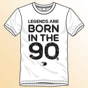 T-Spoon – T-shirt, white, Legends are born in the 90s