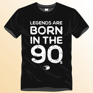 T-Spoon – T-shirt, black, Legends are born in the 90s