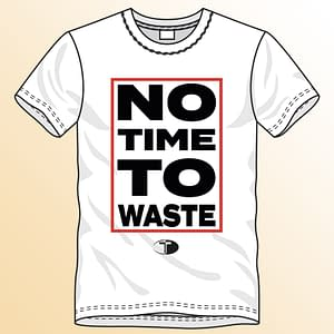 T-Spoon – T-shirt, white, No time to waste