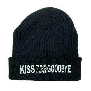 Charly Lownoise & Mental Theo – Beanie Kiss Your Fucking Ears Goodbye (white embroidered)