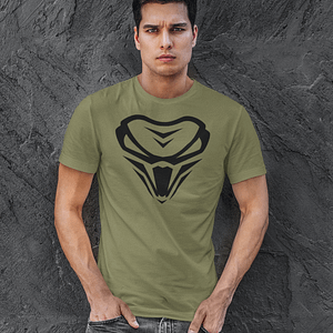 The Viper – T-shirt with logo – ARMYGREEN