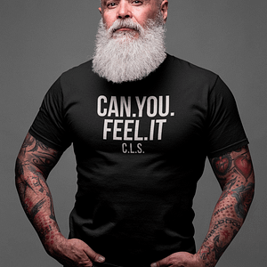 REMEMBER – T-shirt CAN YOU FEEL IT, white print
