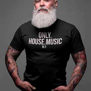 REMEMBER – T-shirt ONLY HOUSE MUSIC, white print