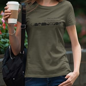 CINEMATIQUE – T-shirt female, logo in black, available in different colors