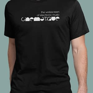 CINEMATIQUE – T-shirt with logo, white print, available in different colors