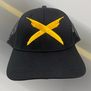 RAYVOLT – Snapback trucker CAP – embroidered with yellow cross