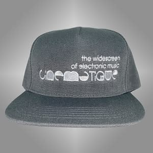 CINEMATIQUE – CAP snapback – White on grey embroidered