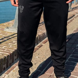 CHARLY LOWNOISE – Performance Jogging Pant with outline logo, white print