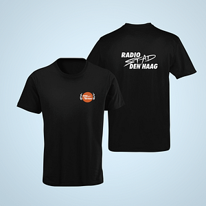 RSDH – T-shirt with headphone logo / logo Radio Stad Den Haag