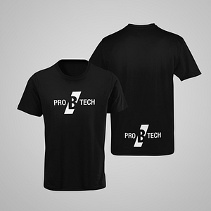 PRO B TECH – black T-shirt, with large logo on both sides