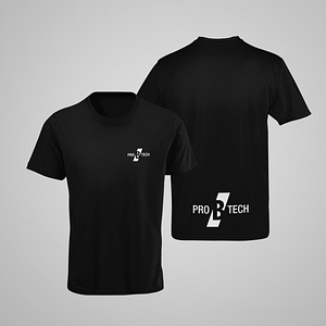 PRO B TECH – black T-shirt, with logo on both sides