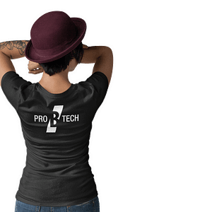 PRO B TECH – Black T-shirt women with logo on both sides